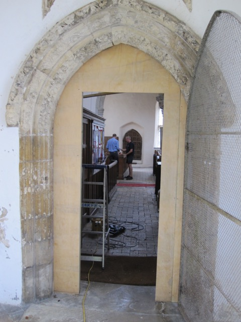 St George's Gt Bromley Essex 2015 Temporary south door