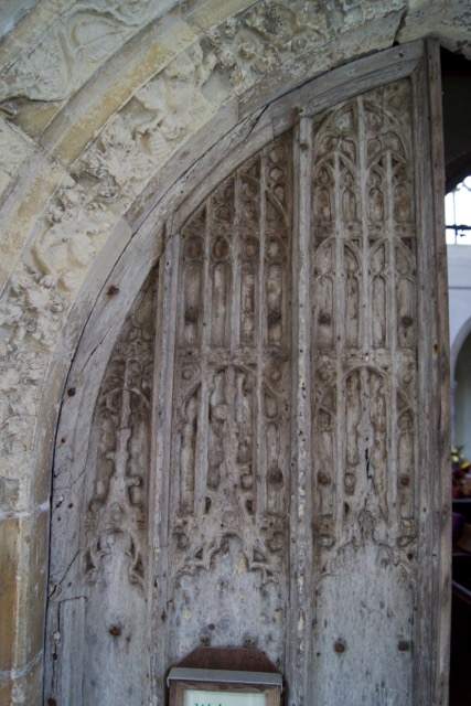 St George's Gt Bromley Essex 2015 repairs south_door_tracery