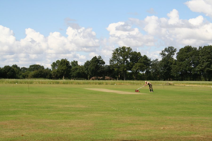 maintaining the cricket pitch
