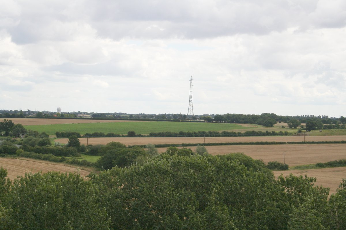 view of pylon from  St George's church tower